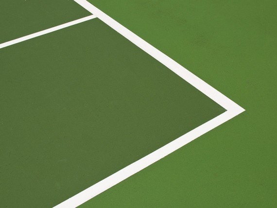 green modern hardcourt tennis