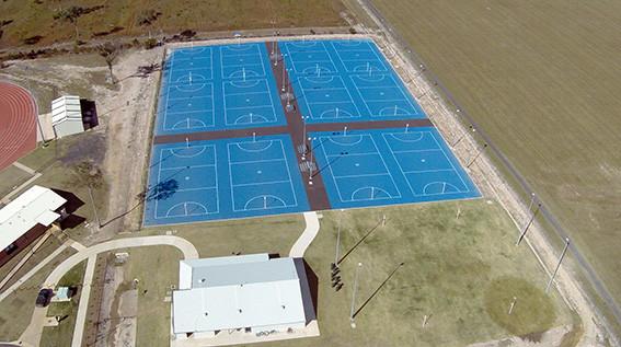Netball court sports complex