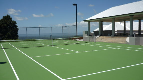 Private Synthetic Tennis Court 2b