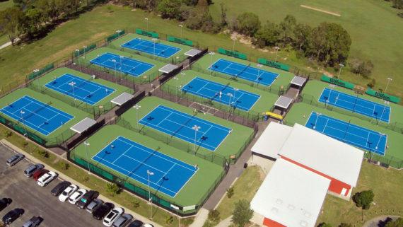 Tennis court sports complex